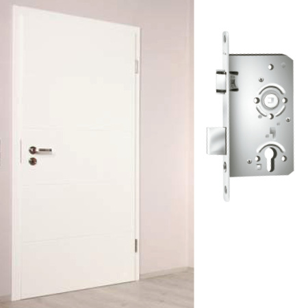 Locks and strike-plate systems Interior doors