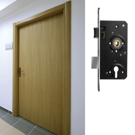 Locks and strike-plate systems Exterior and functional doors