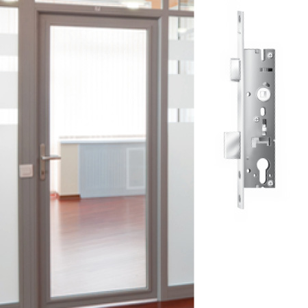 Locks and strike-plate systems Profile frame doors
